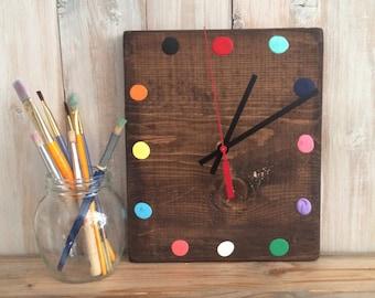 Craft Room Wall Clock - Paint Clock - Painter's Decor - Art Studio Decor - Art Studio Clock - Gift for Artists - Craft Room Decor