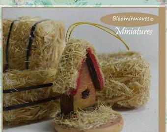 Miniature Bird house Ornament