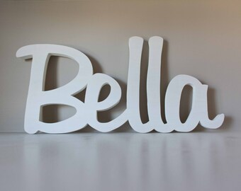 Over the Crib Baby Name Sign, Wooden Nursery Name Display, Baby Name Art