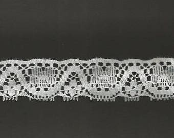"""White Lace (3 yards) 1"""" wide"""