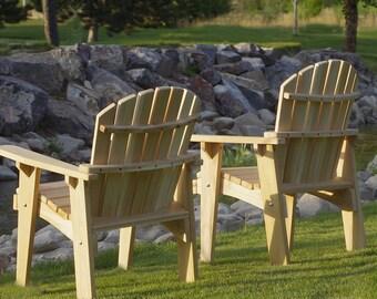 2 Adirondack Garden Chair kits unfinished