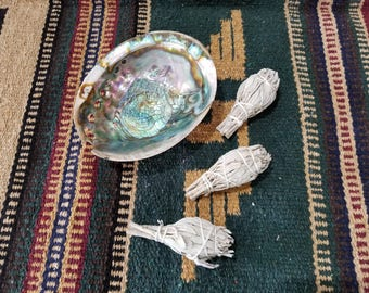 Small White Sage Bundle (1)***Abalone shell in photo for display only, not included with purchase, thank you. ***