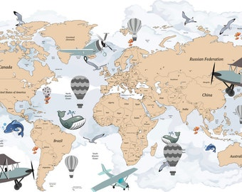 Cultural world map decal pattern map wall decal clear vinyl avitation world map decal airplane map wall decal clear vinyl decal traveller world gumiabroncs Choice Image