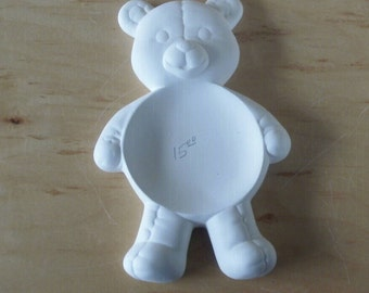 MADE to ORDER Ready to paint Teddy bear kitchen decoration teddy bear spoon rest Gifts for her Teddy bear unpainted ceramic bisque stoneware