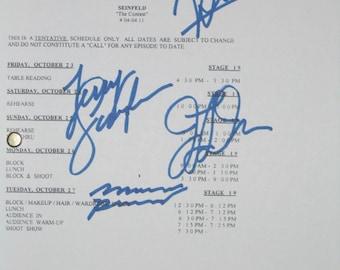 Seinfeld Signed TV Script Screenplay Autographs Jerry Seinfeld Michael Richards Jason Alexander Julia Louis-Dreyfus Signatures reprint