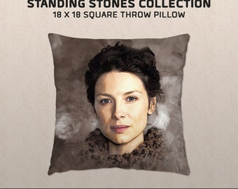 Women of the Standing Stones: Claire Fraser-inspired Throw Pillow