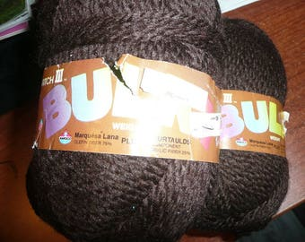Magic Match III Bulky Weight Brown Color Yarn Skeins