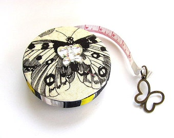 Tape Measure Bling Butterflies Retractable Pocket Measuring Tape