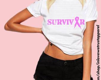Breast Cancer Shirt, Breast Cancer, Pink Ribbon Shirt, Breast Cancer Awareness, Survivor Shirt, Cancer Survivor, Womens Tshirt, Pink Ribbon