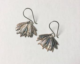 new artisan sterling flower earrings