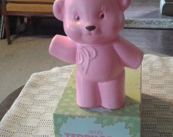 Avon's pink TEDDY BEAR lotion dispener.