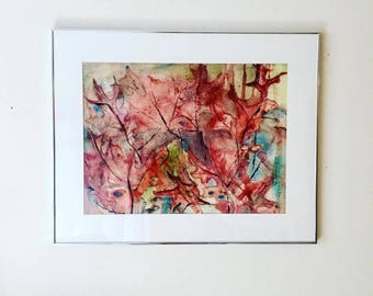 Framed Leaf Painting