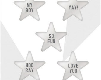 Crate Paper Cool Kid Resin Stars -- MSRP 4.00