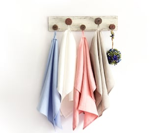 Natural Pre Washed Linen Dish Towels set of 4