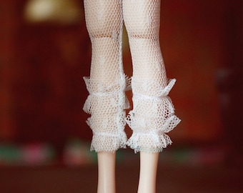 Jiajiadoll- white mesh lace legging fits Momoko Or Blythe Or Misaki