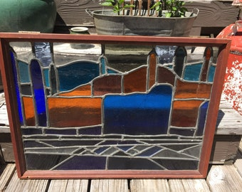 Big Framed Stained Glass Window
