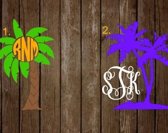 Palm Tree Monogram