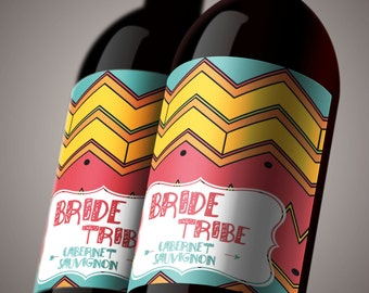 Wine Tasting Labels - Bride Tribe Wine Party. Wine Bottle Labels for Bachelorette or Bridal Shower Wine Tasting. *INSTANT DOWNLOAD*