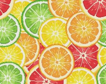 "Cross stitch pattern ""Pillow - Citrus"""