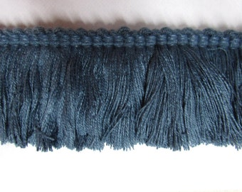 BLUE brush fringe 2 inch