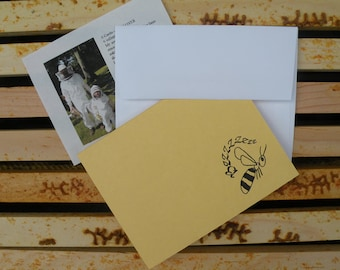 Bzzzzz Note Cards-Flat Single Thickness