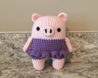 Amigurumi Pig Plush, Stuffed Pig, Crochet Pig, Pig Plush, Pig Toy, Pig in TuTu