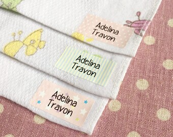 Iron on Clothing Labels Custom labels Daycare labels Custom clothing labels Kids name stickers Name labels Camp labels