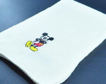 "Kids Scarf Mickey Mouse Scarf Walt Disney Light Creme Acrylic Scarf 29"" X 7"""