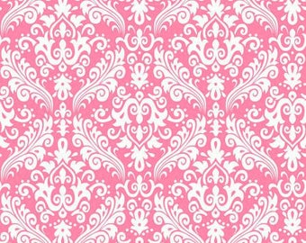 PInk Damask Fabric by Riley Blake
