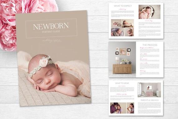 Newborn Magazine Template Newborn Welcome Magazine