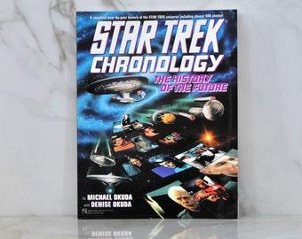 Vintage Paperback Book Star Trek Chronology The History of the Future 1993 - Okudas  - Next Generation - Original Series - TV Episodes