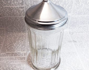 Vintage Sugar or Creamer Dispenser, Glass Sugar Dispenser, Sugar Shaker