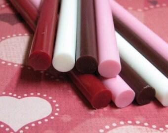 100 hot glue sticks opaque bulk colored Black Red Brown White Pink Orange light Blue crafts deco sauce kawaii decoden supplies
