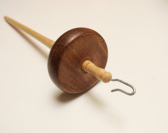 Hand-turned top whorl drop spindle - Angelique and Maple