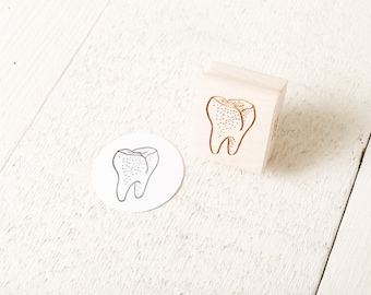 Human Tooth - Rubber Stamp