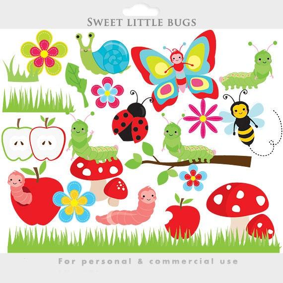 Cute bugs clipart bugs clip art caterpillar worm ladybug