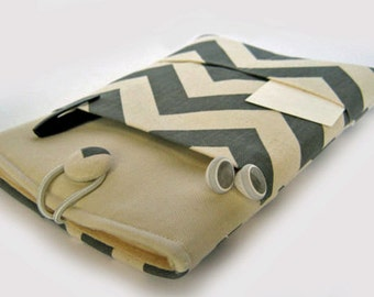 Macbook Air Case, Macbook Air Sleeve, Macbook 12 inch Case, 11 Inch Macbook Air Case, Laptop Sleeve, Grey Chevron