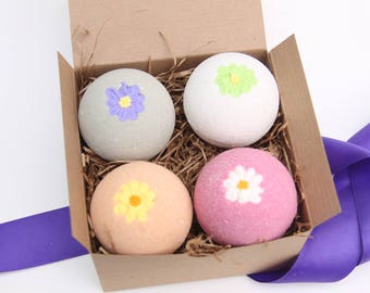 Spa Gift Set, Bridesmaids Gifts, Party Favors, Birthday Gifts, Flower Bath Bombs, Gifts for Her, Gifts For Mom, Valentine's Day Gift, Bath
