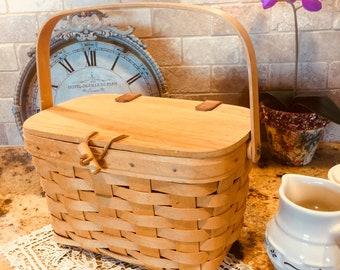 Longaberger Purse Basket, Vintage, Collectible, Storage, Organization, Home Decor