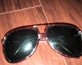 Vintage Opti-Ray Sunglasses. 1970's. Aviator Style. Tortoise Color.  Modern Again!