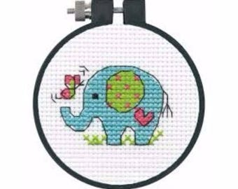 Elephant Learn-A-Craft - Beginner Cross Stitch Kit