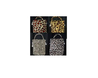 Leopard print cloth bag