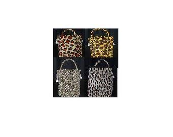 Leopard print cloth bag