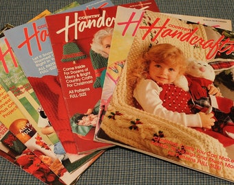 7 - Country Handcrafts Magazine ~ Holidays - Autumn - Winter - Back Issues ~ Over 200 Projects ~ Full Size Complete Patterns & Instructions