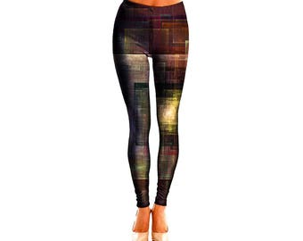 Abstract Art Leggings - Beautiful Artwork Pants - Impressionism Workout Wear - Comfortable Festival Clothes