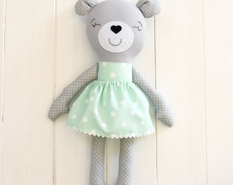 Bear Plush Bear Toy Teddy Bear Stuffed Bear Stuffed Animal Bear doll Bear plushie Bear softie Babyshower gift Bear baby shower girl Jobuko