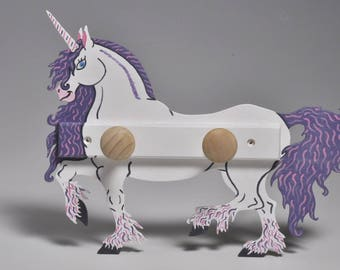 Unicorn coat of wood violet and white