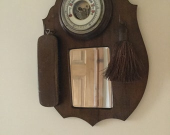 Hall mirror clothes brush barometer