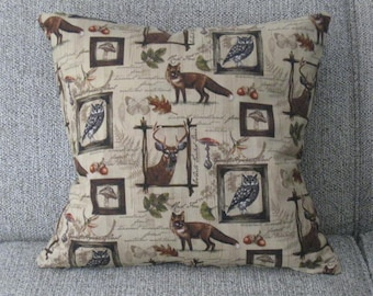 Throw Pillow Forest Animal Pillow Cover Cabin Decor Decorative Pillow Cover