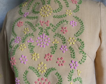 1960s Embroidered Blouse * Gypsy * Bohemian